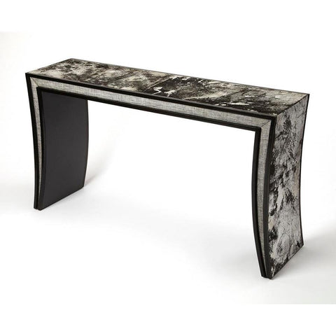 Butler Ardmore Hair-On-Hide Leather Console Table