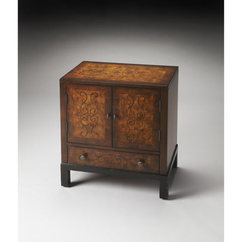 Butler Artists' Originals Courtland Accent Cabinet In Black And Tan