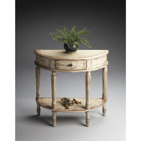 Butler Artists' Originals Demilune Console Table In Chateau Gray