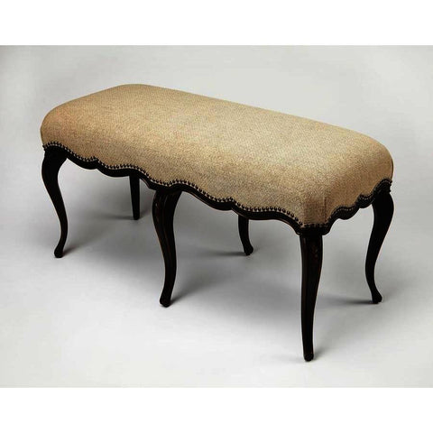 Butler Artists' Originals Michelline Cafe Noir Hand Painted Bench