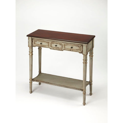 Butler Banham Antique Gray Console Table