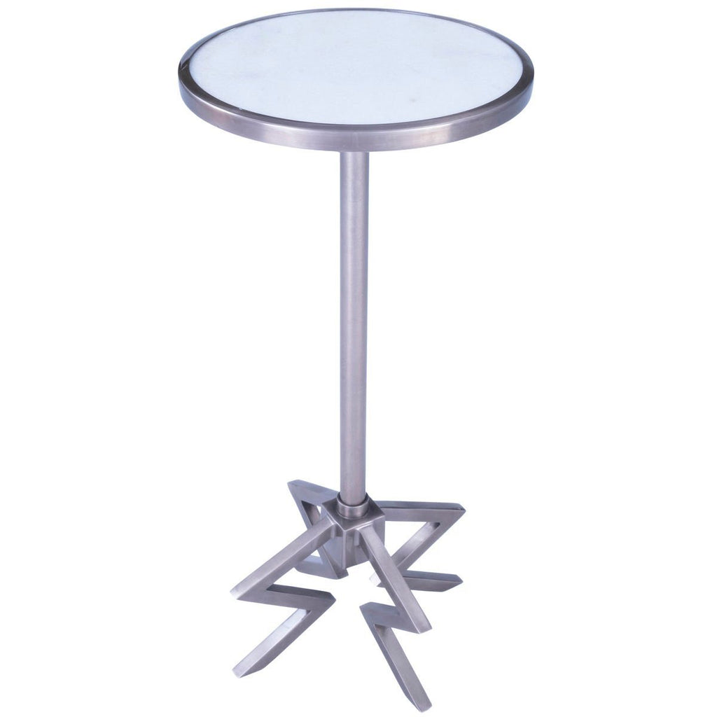 Butler Dash Metal Marble End Table Beyond Stores