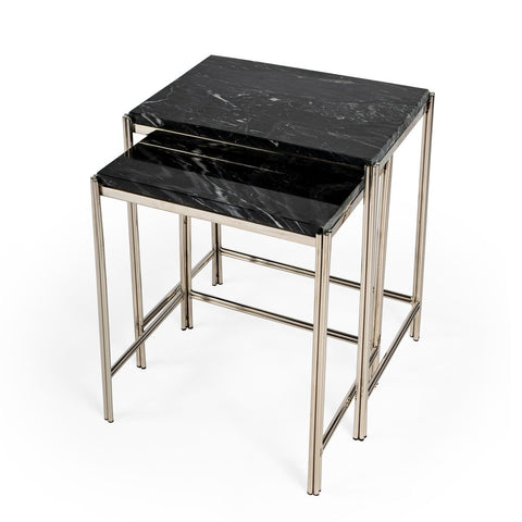 Butler Deguanna Marbel and Metal Nesting Tables