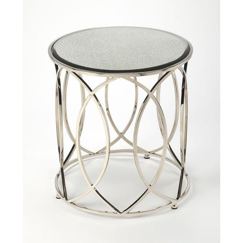 Butler Desiree Mirror & Nickel End Table