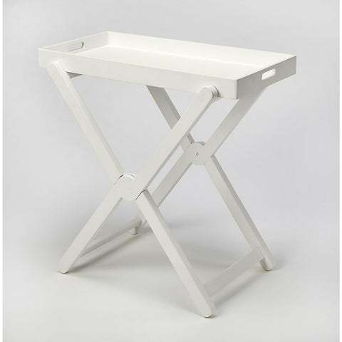 Butler Edna White Tray Table