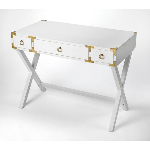 Butler Forster Glossy White Writing Desk