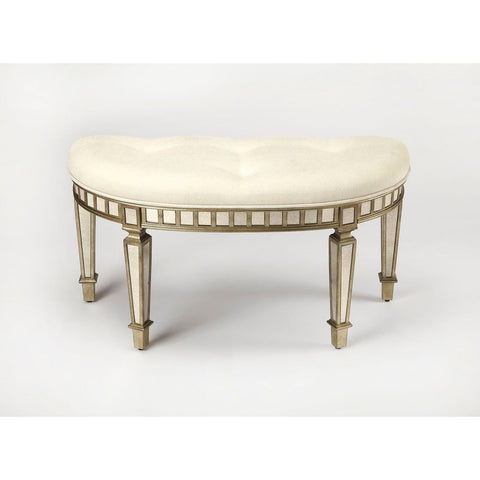 Butler Garbo Mirrored Demilune Bench