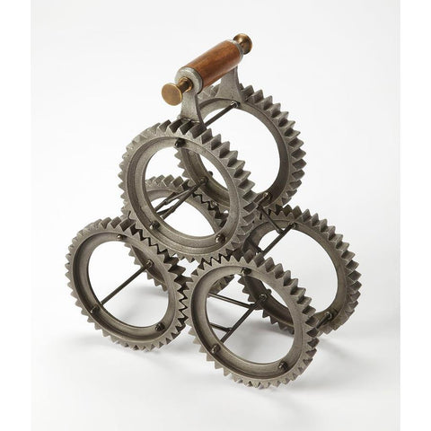 Butler Gear-Y 3 Bottle Tabletop Wine Rack