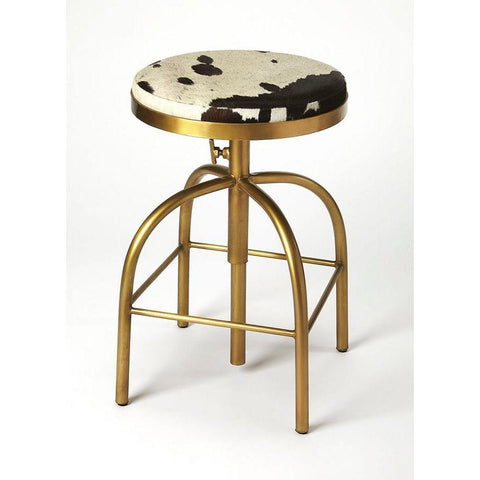 Butler Grogan Hair-On-Hide Barstool