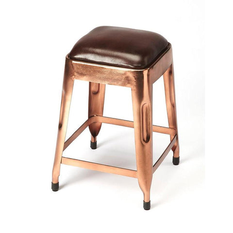 Butler Hatcher Leather Low Stool