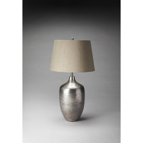 Butler Hors D'Oeuvres Table Lamp In Antique Silver Finish 7127116