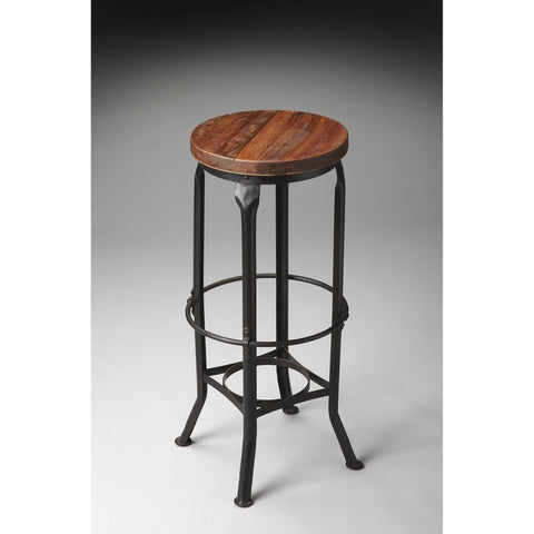 Butler Industrial Chic Bar Stool In Metalworks 1167025