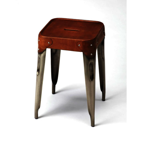 Butler Industrial Chic Connor Iron & Leather Counter Stool