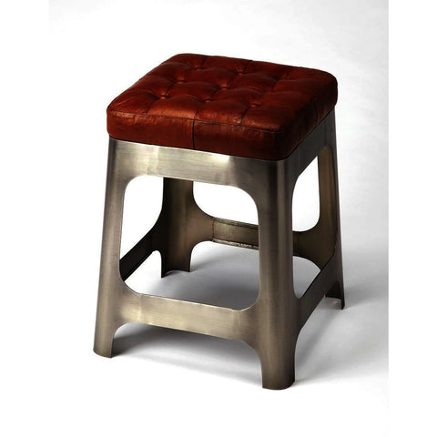 Butler Industrial Chic Gerald Iron & Leather Counter Stool
