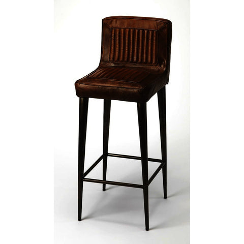 Butler Industrial Chic Maxwell Leather Barstool