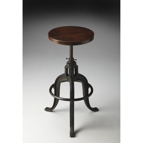 Butler Industrial Chic Revolving Bar Stool In Metalworks 2049025