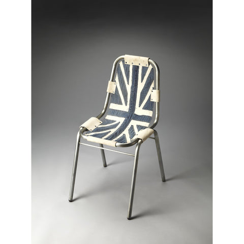 Butler Industrial Chic Shelton Side Chair In Denim