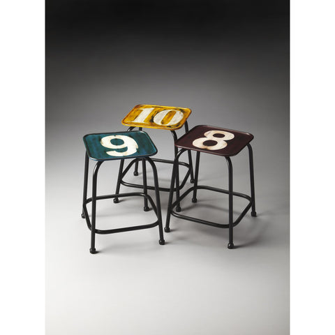 Butler Industrial Chic Trio Stool Set