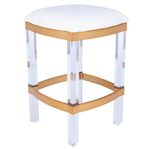 Butler Jordan Acrylic & Polished Brass Counter Stool