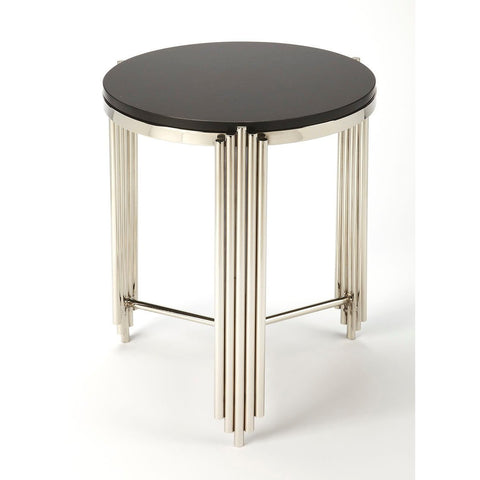 Butler Khalifa Black Granite End Table