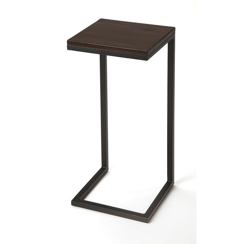 Butler Kilmer Wood & Black Metal Finsih Accent Table