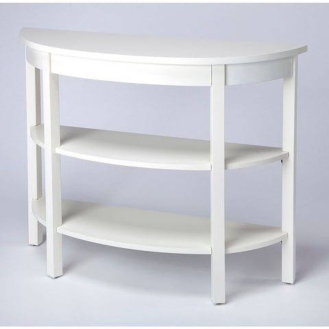 Butler Lara Cottage White Demilune Console Table