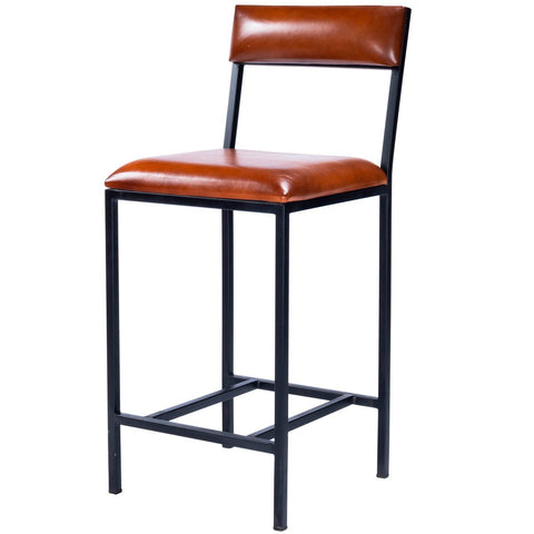 Butler Lazarus Leather & Metal Counter Stool