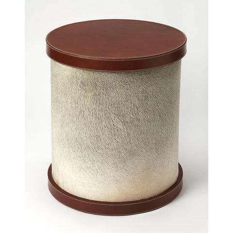 Butler Leandro Hair-On-Hide Leather End Table