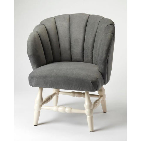 Butler Malcom Gray Velvet Accent Chair