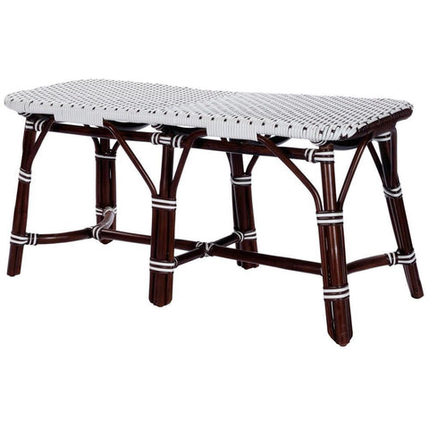Butler Marcella Dark Brown Rattan Bench