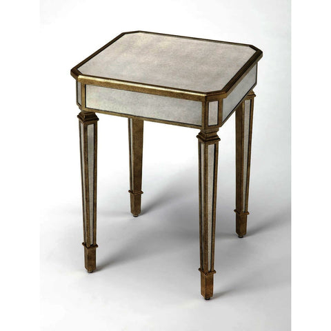 Butler Masterpiece 18 Inch Celeste Mirrored End Table