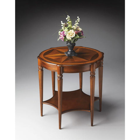 Butler Masterpiece Accent Table In Olive Ash Burl 0557101