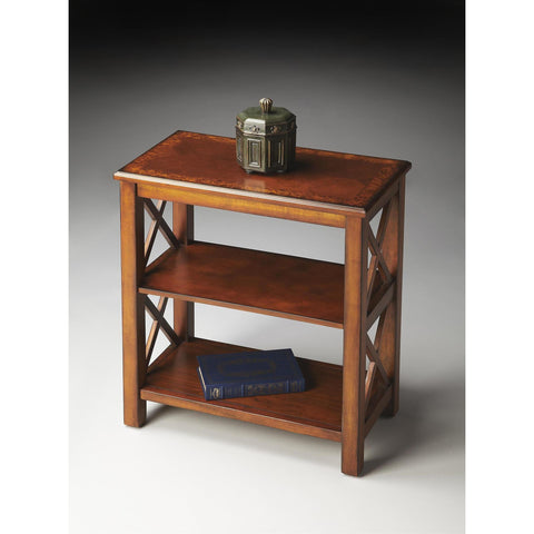 Butler Masterpiece Bookcase In Olive Ash Burl 4105101