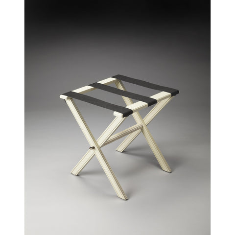 Butler Masterpiece Luggage Rack In Cottage White