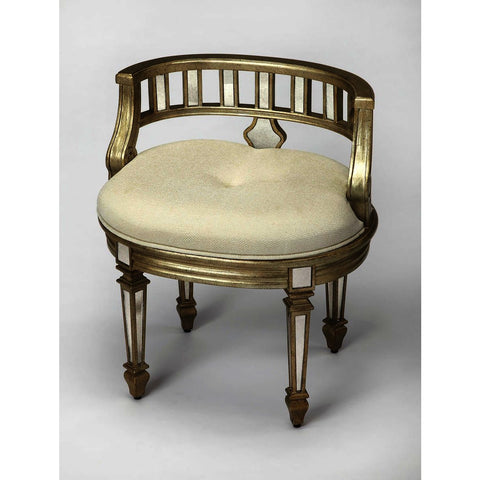 Butler Masterpiece Rebecca Mirrored Vanity Stool