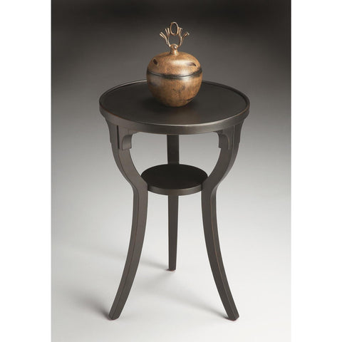 Butler Masterpiece Round Accent Table In Black Licorice