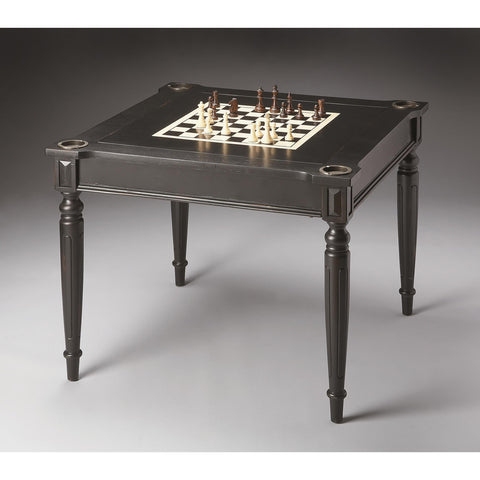 Butler Masterpiece Vincent Multi-Game Card Table In Black Licorice