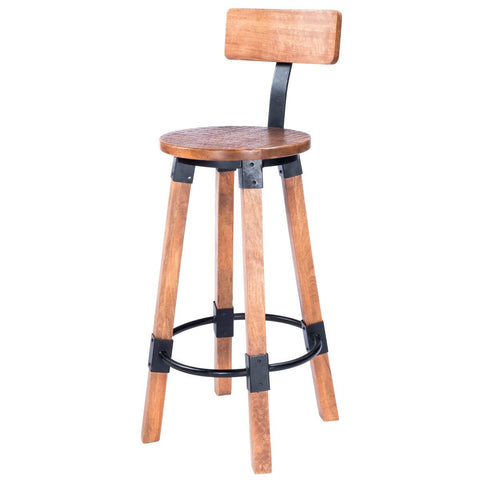 Butler Masterson Wood & Metal Bar Stool