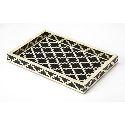 Butler Mayssa Black Bone Inlay Serving Tray