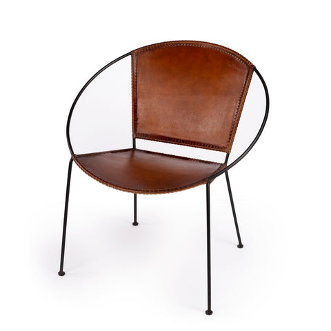 Butler Milo Brown Leather Accent Chair