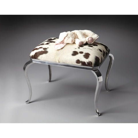 Butler Modern Expressions Ottoman In Nickel