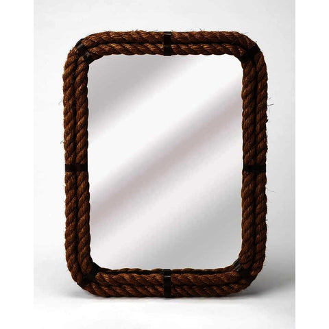Butler Mountain Lodge Darby Rectangular Rope Wall Mirror
