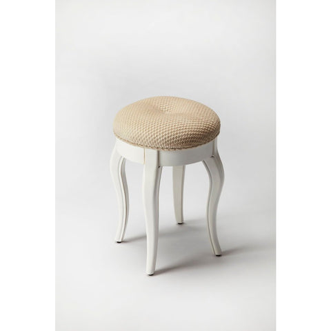 Butler Nadia Cottage White Vanity Stool