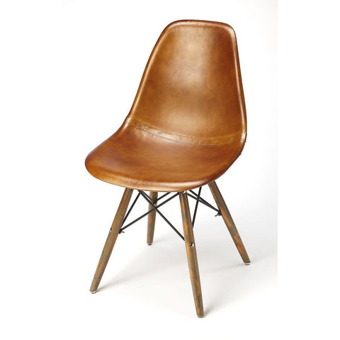 Butler Orson Brown Leather Side Chair