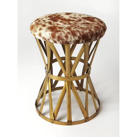 Butler Parker Hair-On-Hide Stool