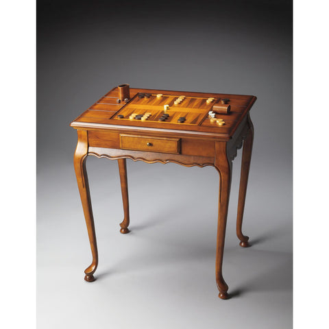 Butler Plantation Cherry Bannockburn Game Table In Olive Ash Burl