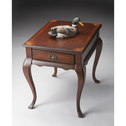 Butler Plantation Cherry Grace End Table In Cherry
