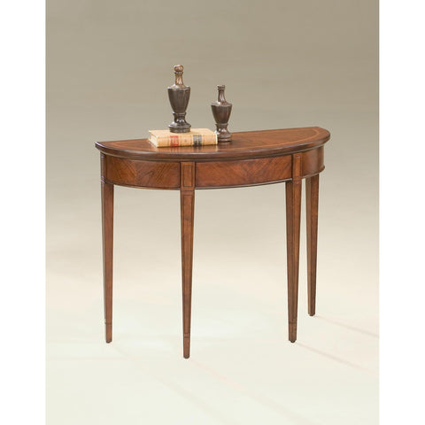 Butler Plantation Cherry Hampton Demilune Console Table