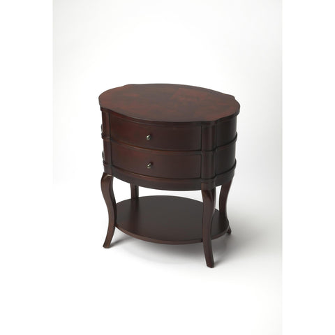 Butler Plantation Cherry Jarvis Oval Side Table