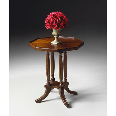 Butler Plantation Cherry Octagon Accent Table
